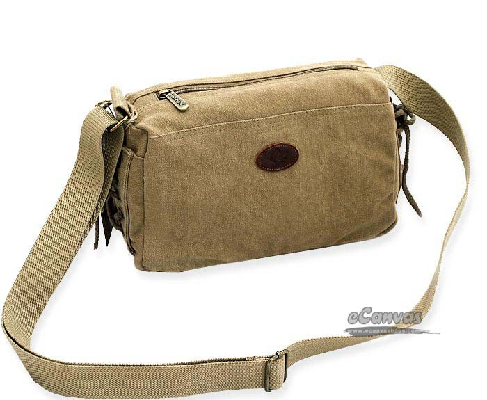 Khaki Canvas Purse