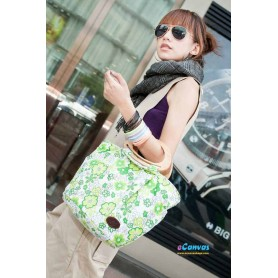 women's green small canvas bag