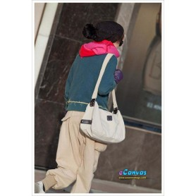 white Simple messenger bag for women