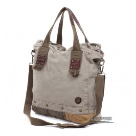 grey messenger hand bag