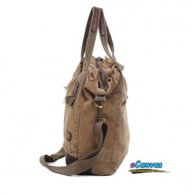 khaki messenger hand bag