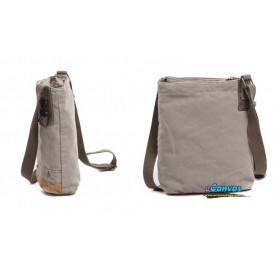 grey small messenger bag