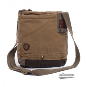 khaki vintage messenger bag
