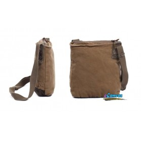 khaki small messenger bag