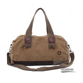 Canvas messenger shoulder bag, aslant Bag, grey & khaki