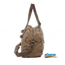 khaki Canvas messenger bag