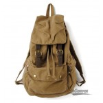 Large-capacity bag, leisure travel backpack, army green & Khaki