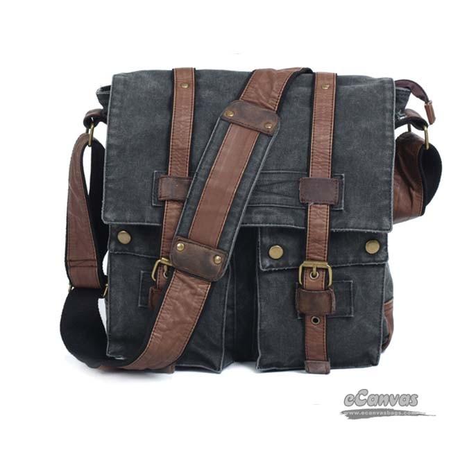 Womens messenger bag, tactical messenger bag - E-CanvasBags