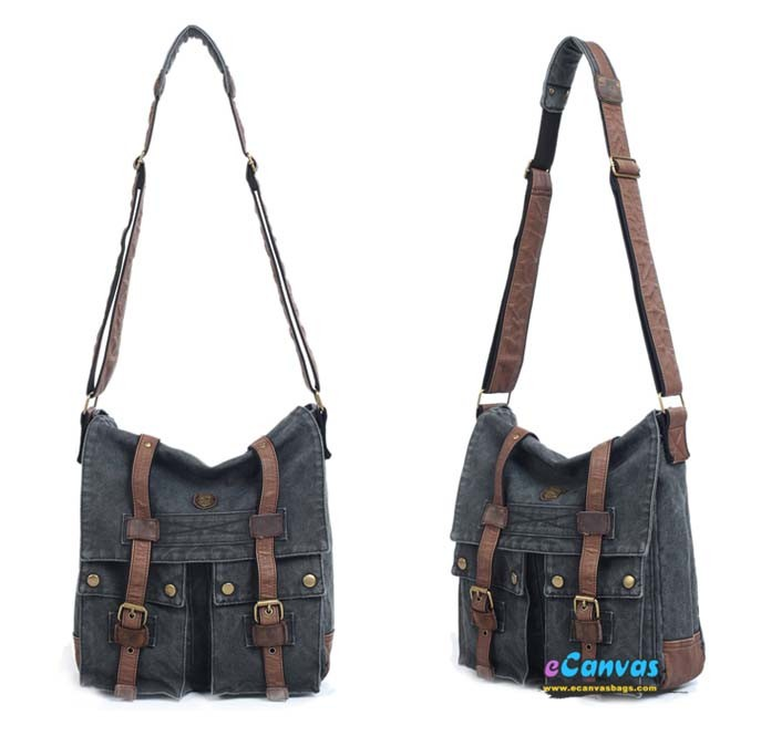 Womens messenger bag, tactical messenger bag - E-CanvasBags