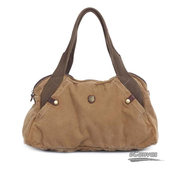 Khaki Fashion Purse Handbag Canvas
