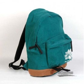 blue Canvas college backpack