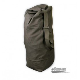 Large Cotton Canvas Backpack, Army green outdoors travel shoulders bag