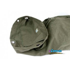 Army green Large Cotton Canvas Backpack