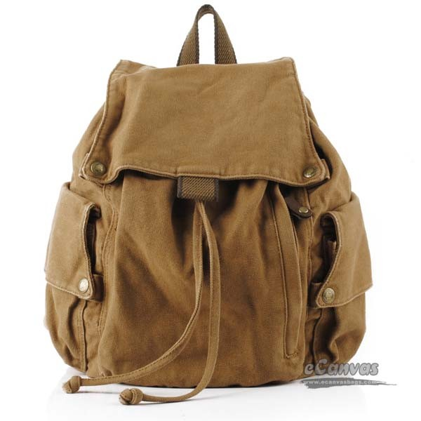 eee56b3aaf5a ... khaki Fashion canvas backpack · casual bag for women ...