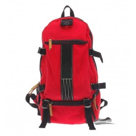Travel rucksack, red bicycle backpack