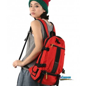 women's red bicycle backpack