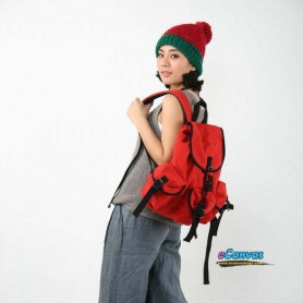 red Sports backpack for women