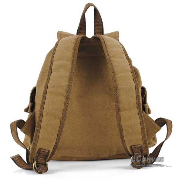 1d07b9271ccf ... khaki Fashion canvas backpack · casual bag for women · Fashion casual  bag ...