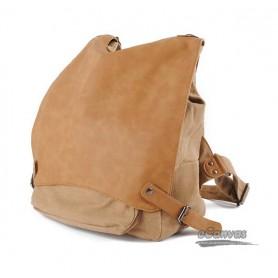 Fashion shoulder handbag, canvas leisure backpack, Grey & khaki