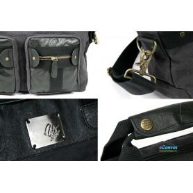 dark grey casual briefcase for women