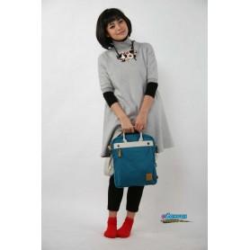 Canvas messenger bag for women
