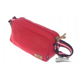 red Canvas messanger bag