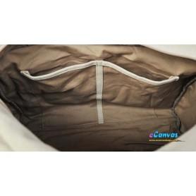 khaki utility bag