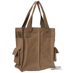 khaki Retro girls shoulder bag