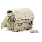 SLR camera shoulder bag, 1 camera 2 lens, beige & black