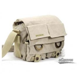 SLR camera shoulder bag, 1 camera 2 lens, beige & black