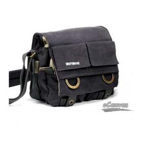 black SLR camera shoulder bag