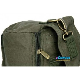 army green canvas sling backpack