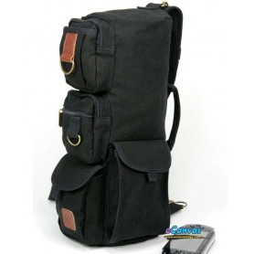 black tactical shoulder go pack bag