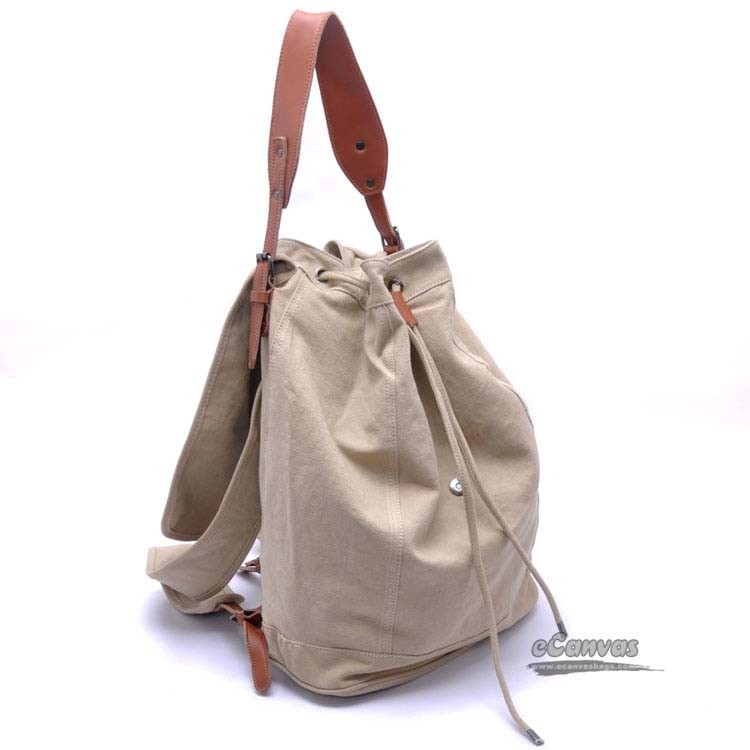Canvas Knapsack Beach Backpack Couples Motorcycle Rucksack Khaki