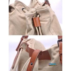 Canvas knapsack