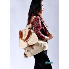 Canvas knapsack for women
