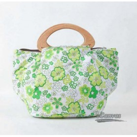 green Small canvas bag