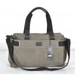 Canvas satchel bag, vintage shoulder bag for men and women, army green & black