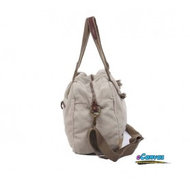 grey Canvas shoulder bag