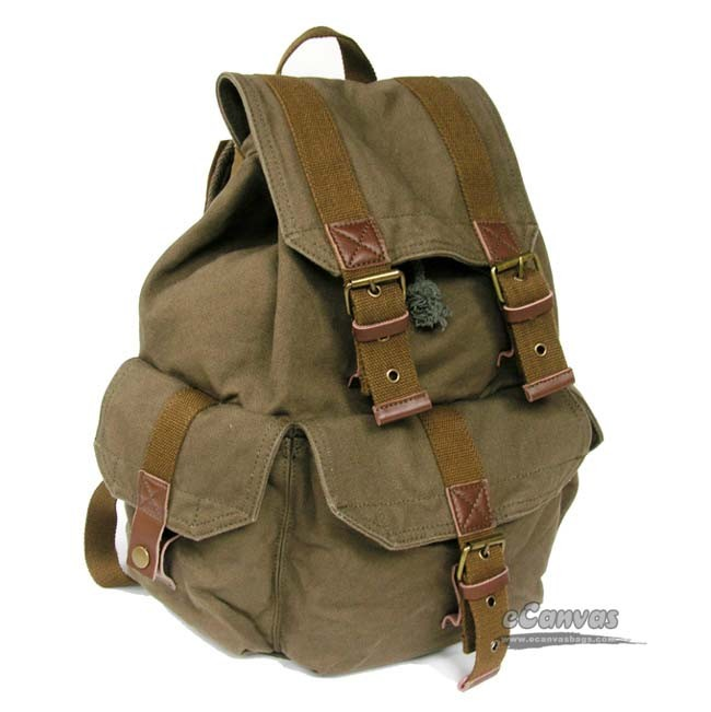 Cool backpack, womens backpack, vintage backpack - E-CanvasBags