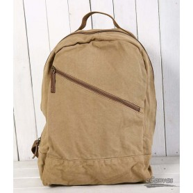 Canvas day pack, satchel,canvas backing bag, khaki, black