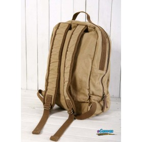khaki canvas backing bag