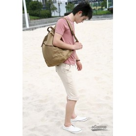 khaki canvas backing bag women