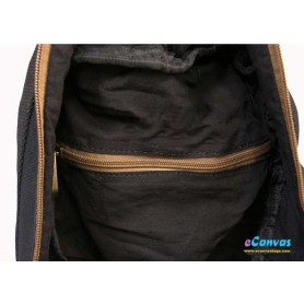 canvas backing bag black