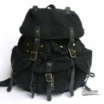 black  Heavy duty backpack