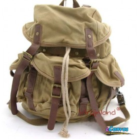 Heavy duty backpack khaki