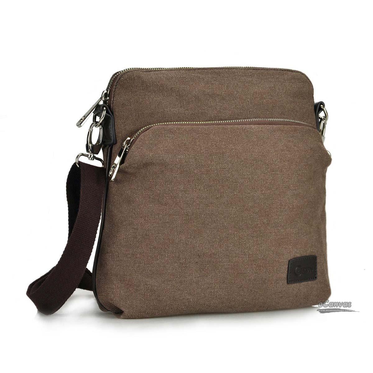 Coffee mens canvas mini pack, casual business messenger bag - E ...