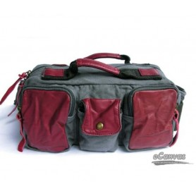 MENS canvas waistpack RED