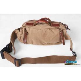 KHAKI canvas waistpack for men