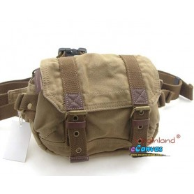 Canvas fanny pack with genuine leather trim FOR MEN